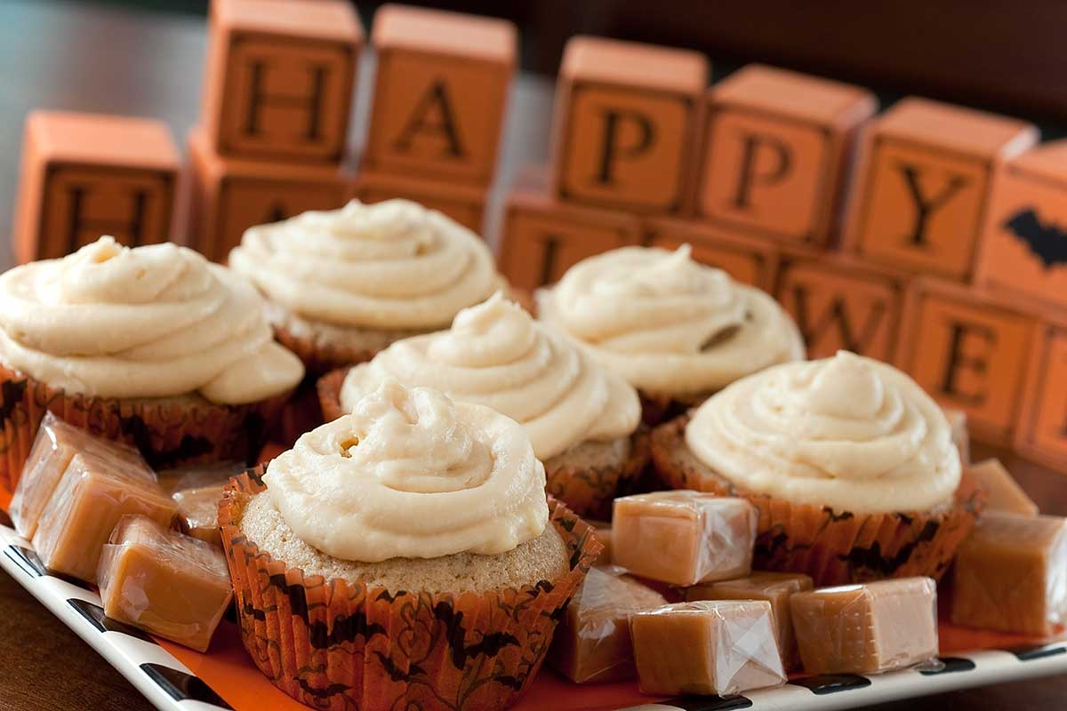 Spiced Cupcakes with Caramel Frosting