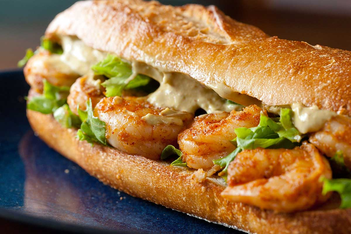Spicy Shrimp Sandwich With Chipotle Avocado Mayonnaise Life S Ambrosia