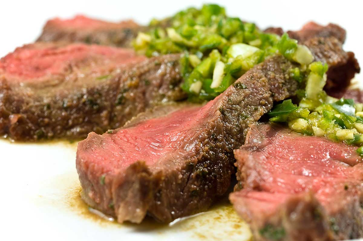 Steak with Chili-Lime Sauce