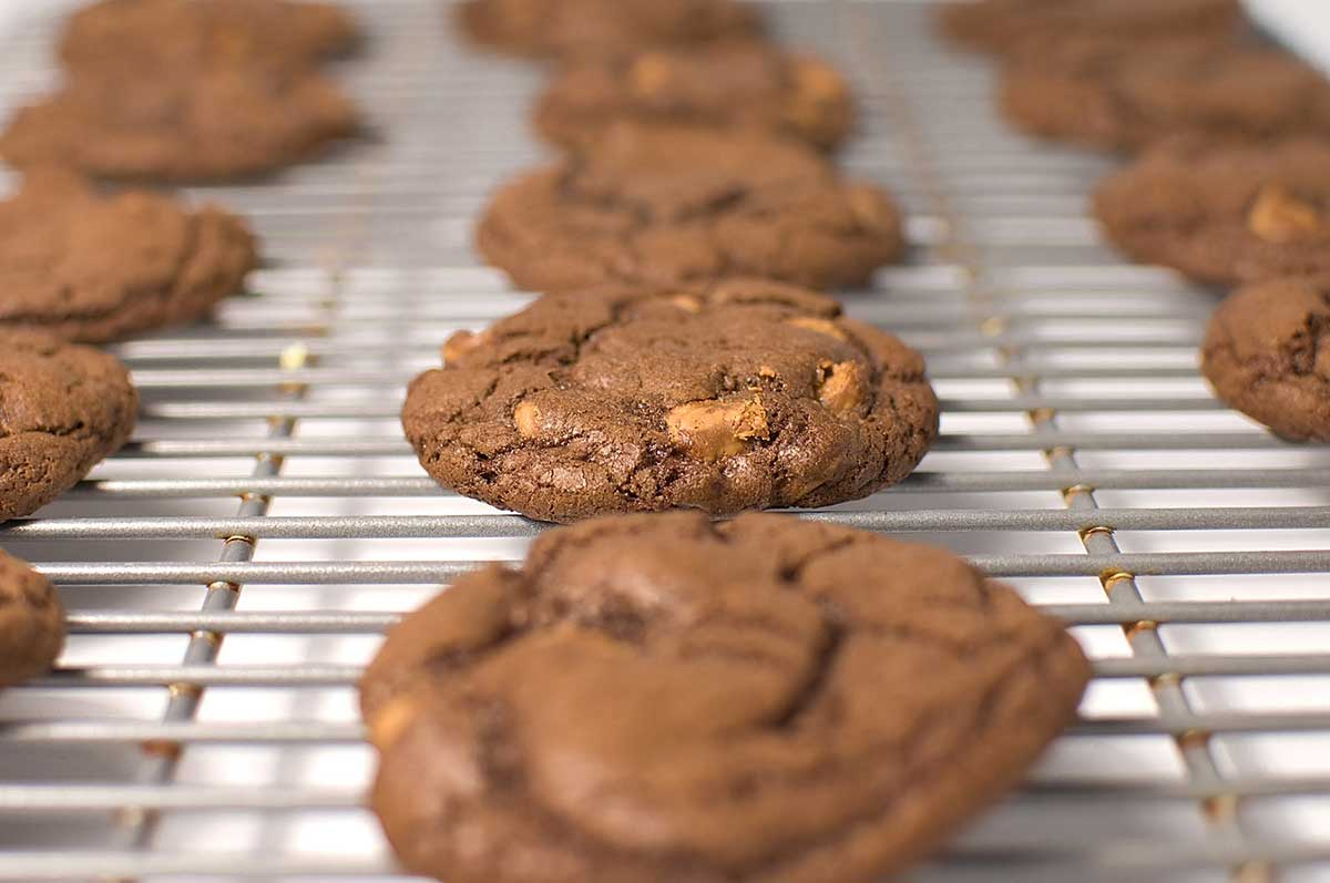 Triple Chocolate Peanut Butter Cookies