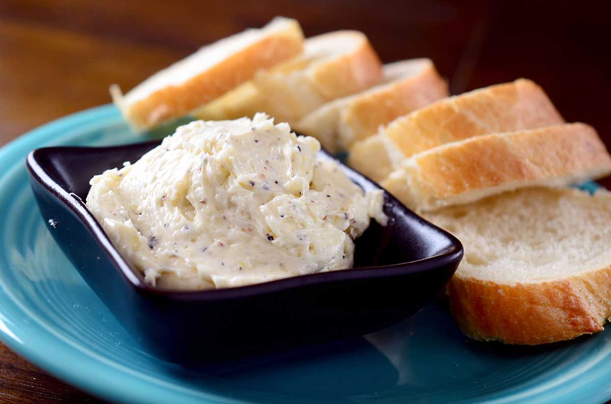 Whipped Garlic and Cracked Pepper Butter