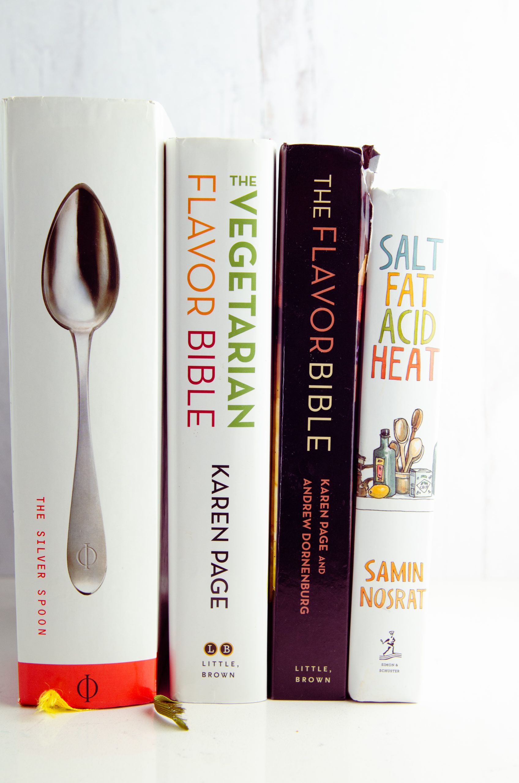 Must have cook books: silver spoon, the vegetarian flavor bible, the flavor bible and salt, fat, acid heat