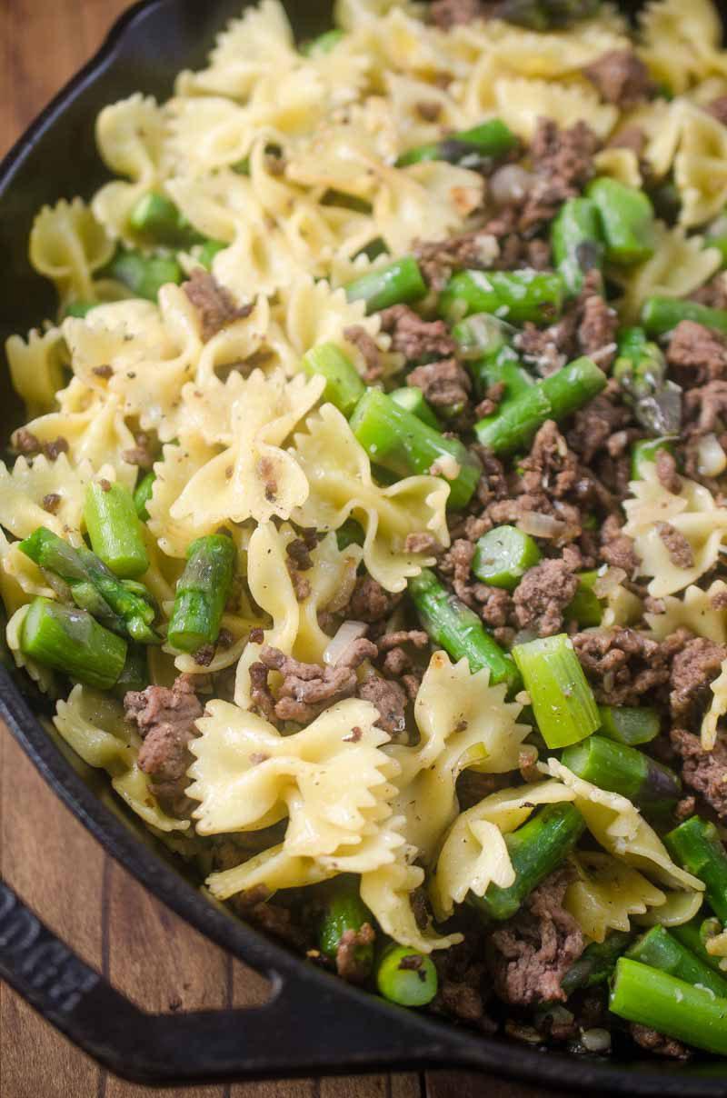 Beef & Asparagus Pasta Toss