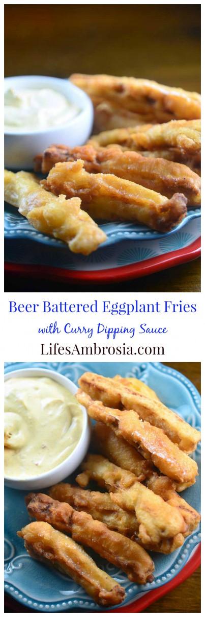 Beer Battered Eggplant Fries