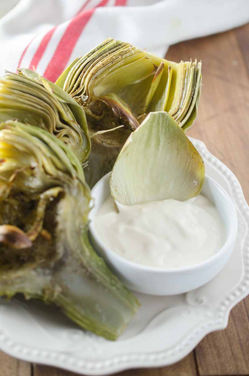 If you like artichokes you are going to love these Broiled Artichokes with Malt Vinegar Aioli.