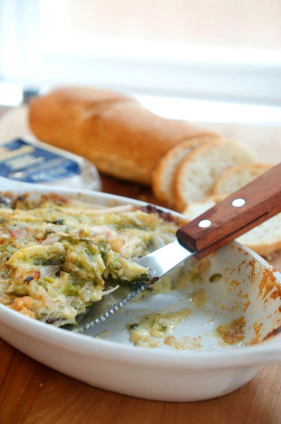 Garlic White Cheddar Brussels Sprouts Dip