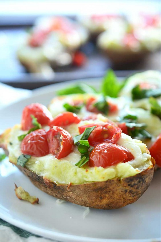 Caprese Twice Baked Potatoes