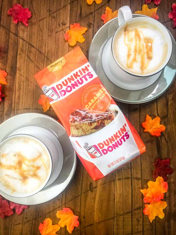 With only 6 ingredients, this Caramel Coffee Cake Latte is easy to make at home. And it is the perfect afternoon pick me up on a cool fall day.