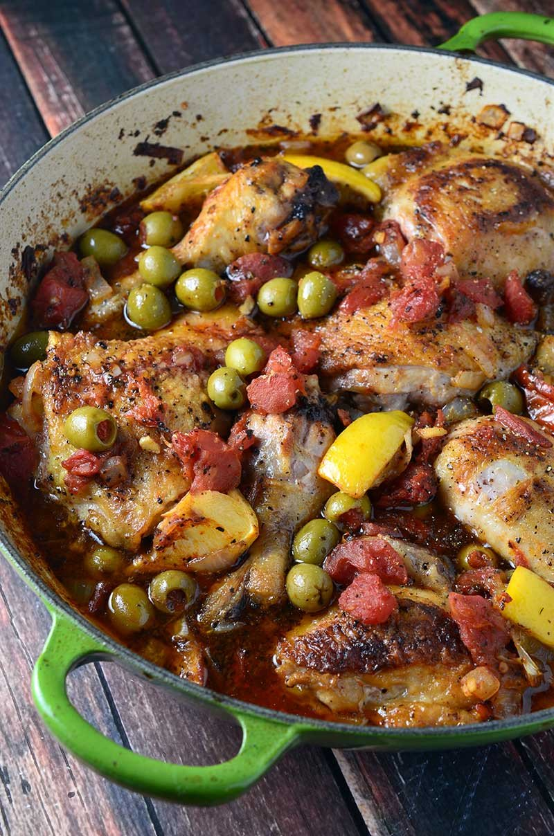 Chicken with Tomatoes & Olives