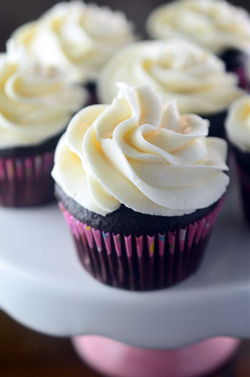 Chocolate Cupcakes with Vanilla Buttercream