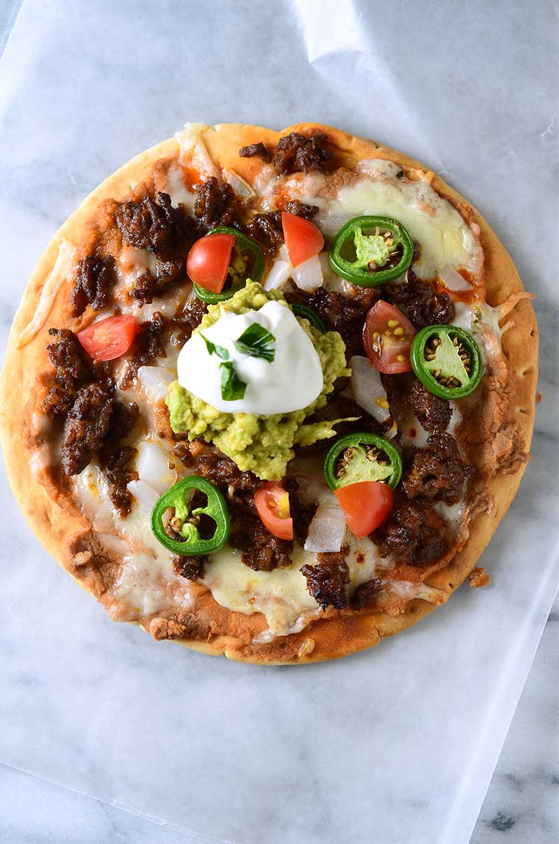 Chorizo Flatbread Pizzas
