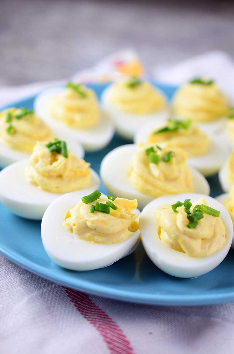 Creamy Asiago Deviled Eggs