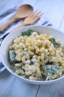 Creamy Goat Cheese Pasta Salad