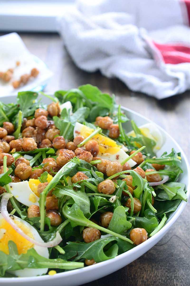 Crispy Chickpea and Arugula Salad