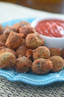 Crispy Mozzarella Stuffed Olives