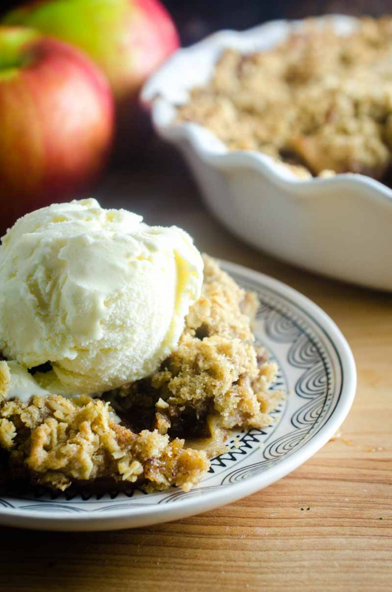 Easy Apple Crisp is the perfect fall dessert. Loaded with sweet apples and topped with a crumb topping. It's my favorite easy alternative to apple pie!