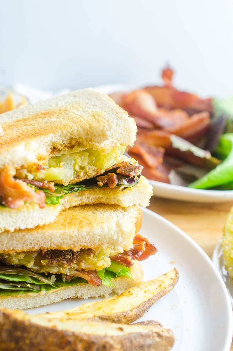 Fried green tomatoes are great. BLTs are Great. Fried Green Tomato BLTS are AMAZING.