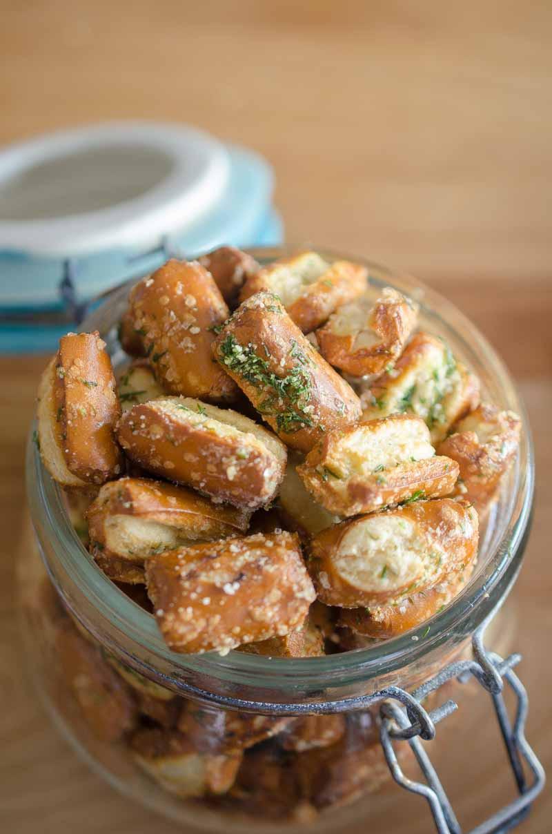 Garlic Parmesan Ranch Pretzels