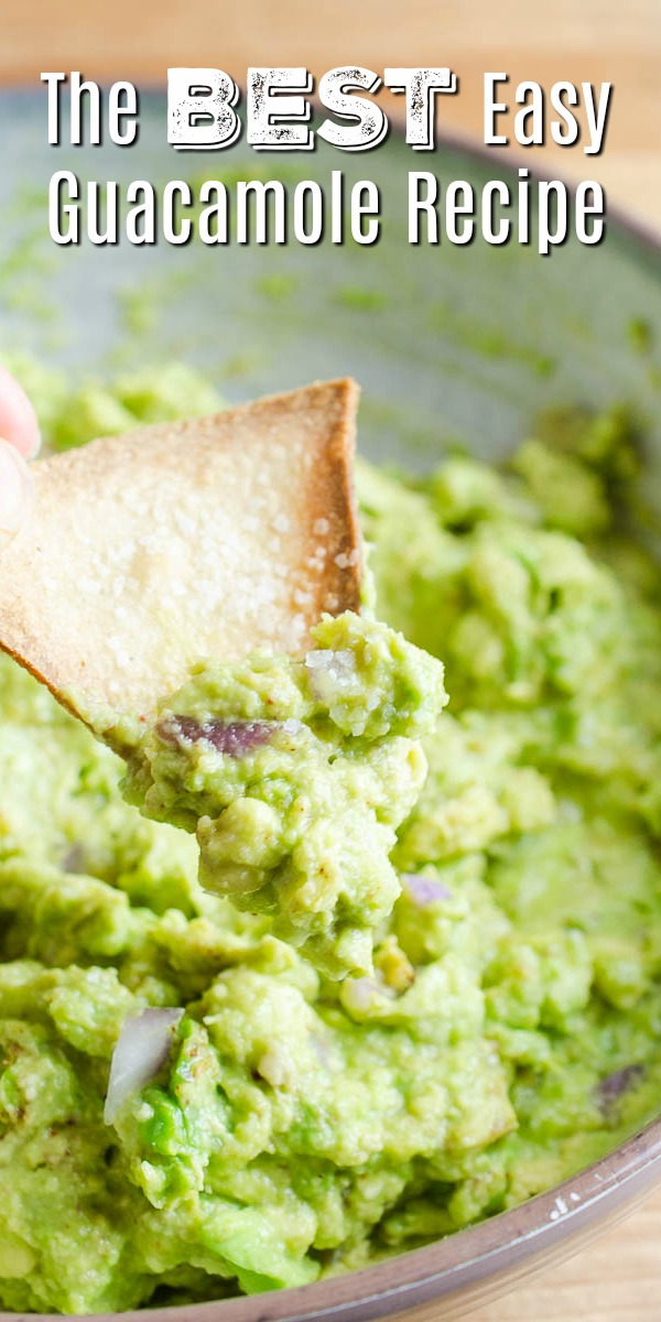 Forget the pre-made stuff, with this classic easy guacamole recipe you'll have fresh guacamole in no time.  Just a few simple ingredients is all you need to make this party perfect kitchen staple. #guacamole #easyguacamole #homemadeguacamole