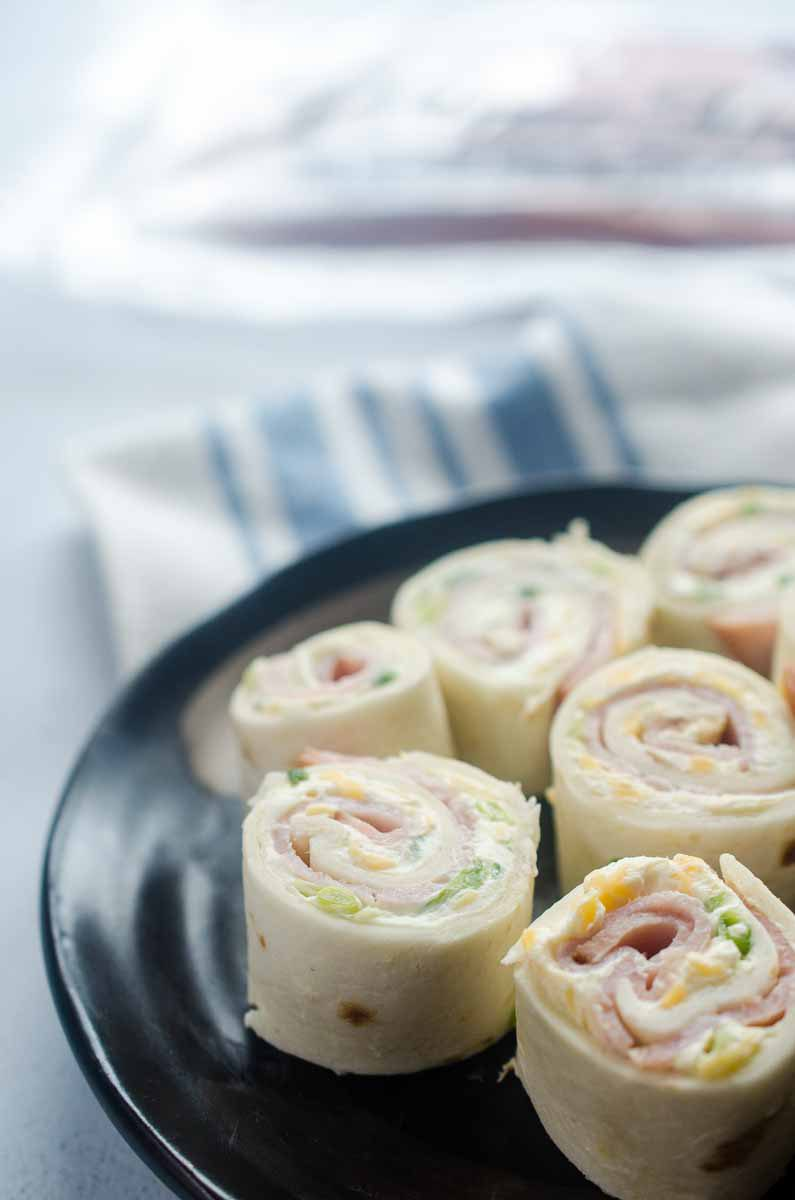 Easy Ham Roll Up party appetizer