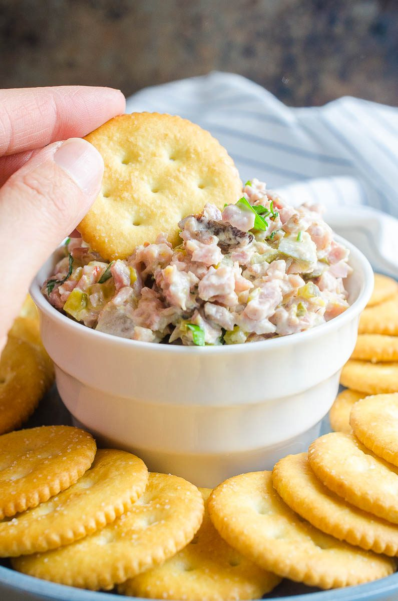 Ham salad is one of the BEST ways to use leftover ham. Less than 10 ingredients and 10 minutes and you can be snacking on this delectable classic.