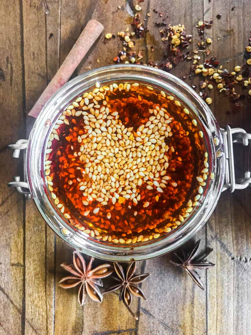 How to make hot chili oil.