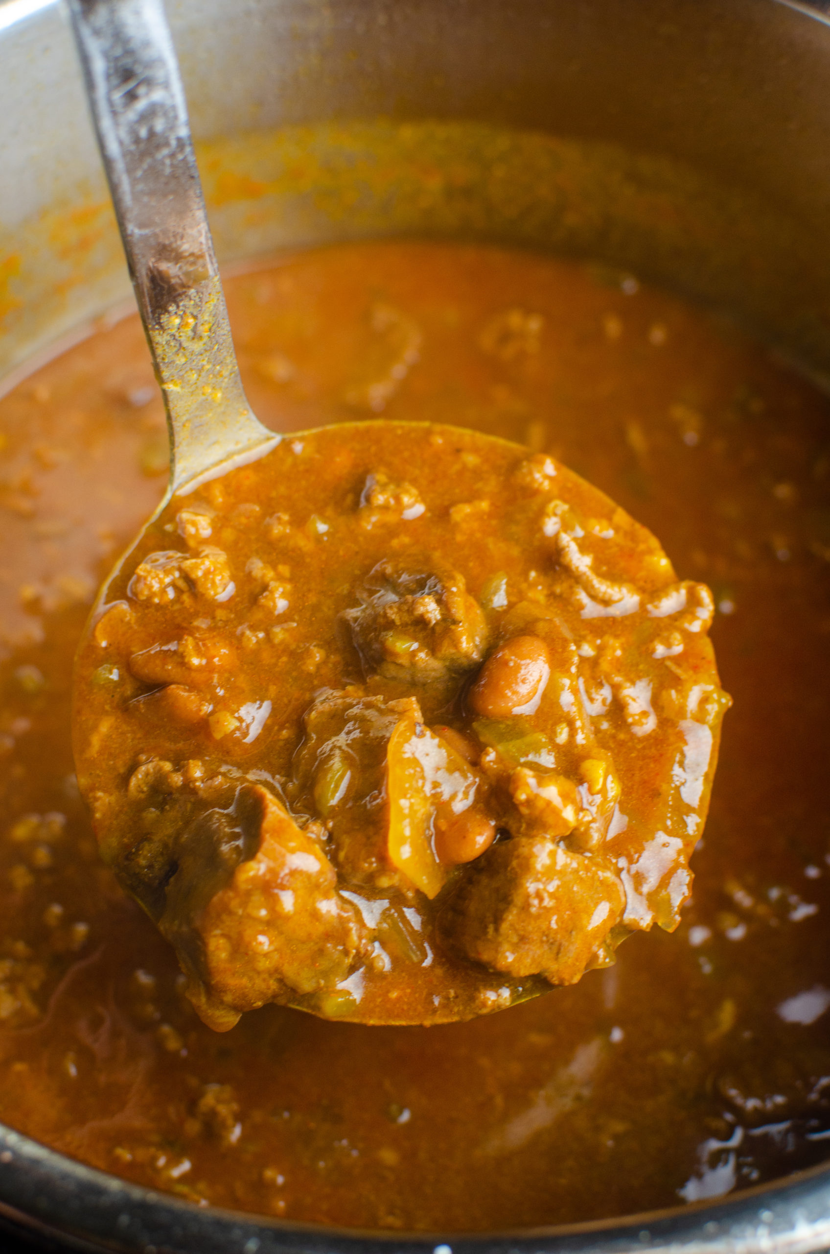 Ladle of chili