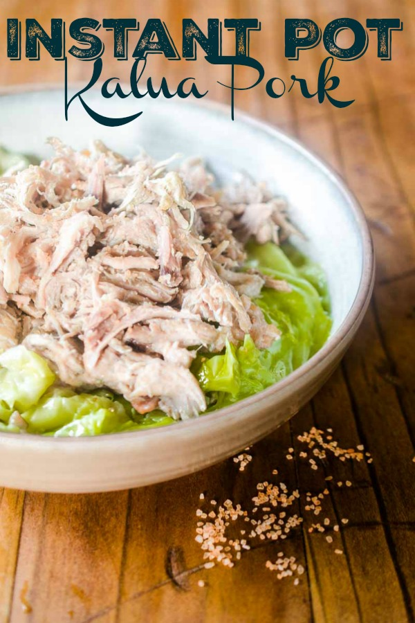 Kalua Pork has never been so fast and easy! This Instant Pot Kalua Pork is ready in under two hours and is pure pork heaven. Great on it's own or in a variety of dishes. #instantpot #kaluapork #porkshoulder