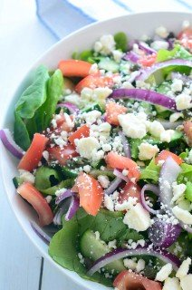 Loaded Greek Salad with Oregano Vinaigrette
