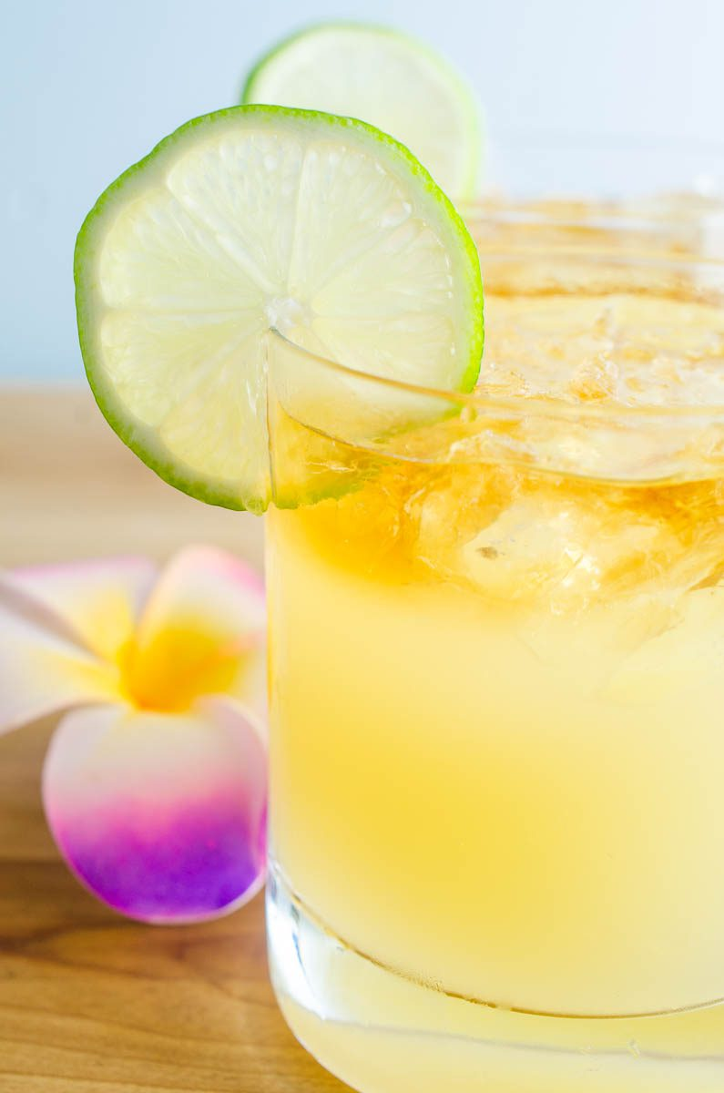 A classic Mai Tai Cocktail with 3 different kinds of rum, lime juice, almond and simple syrup. One sip and you'll feel like you're oceanside in Hawaii. Well, almost.