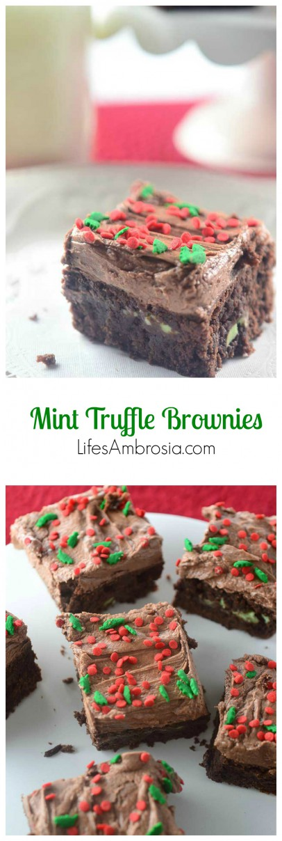 Mint Truffle Brownies Collage