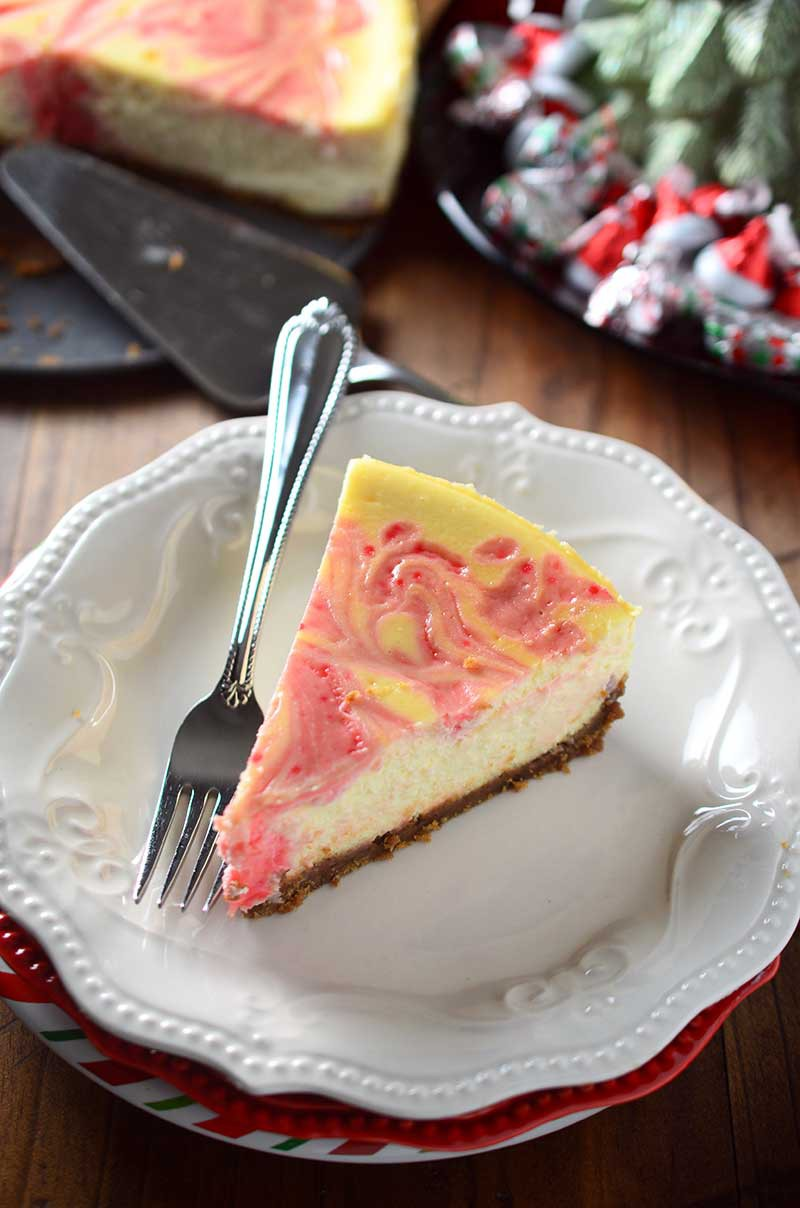 Peppermint Eggnog Cheesecake