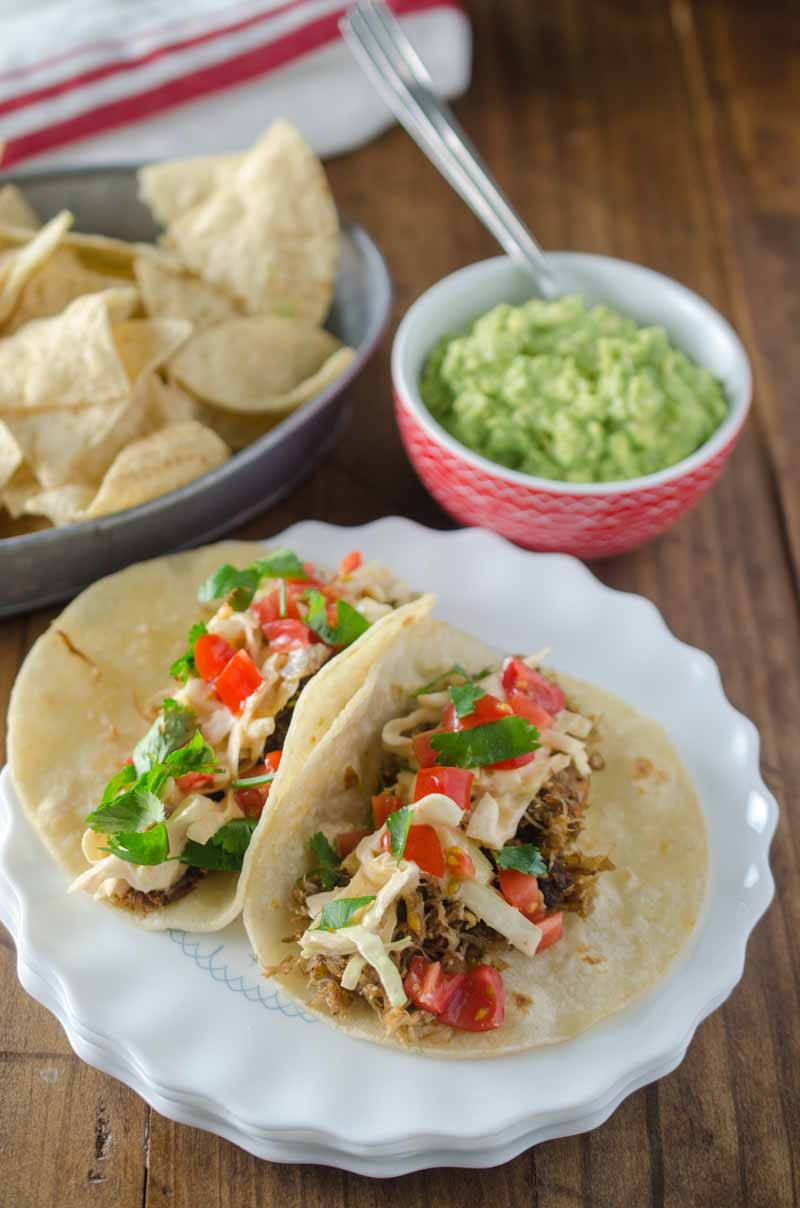Pulled Pork Tacos with Chipotle Slaw