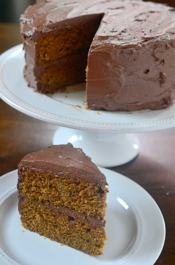 Pumpkin Cake with Mocha Buttercream
