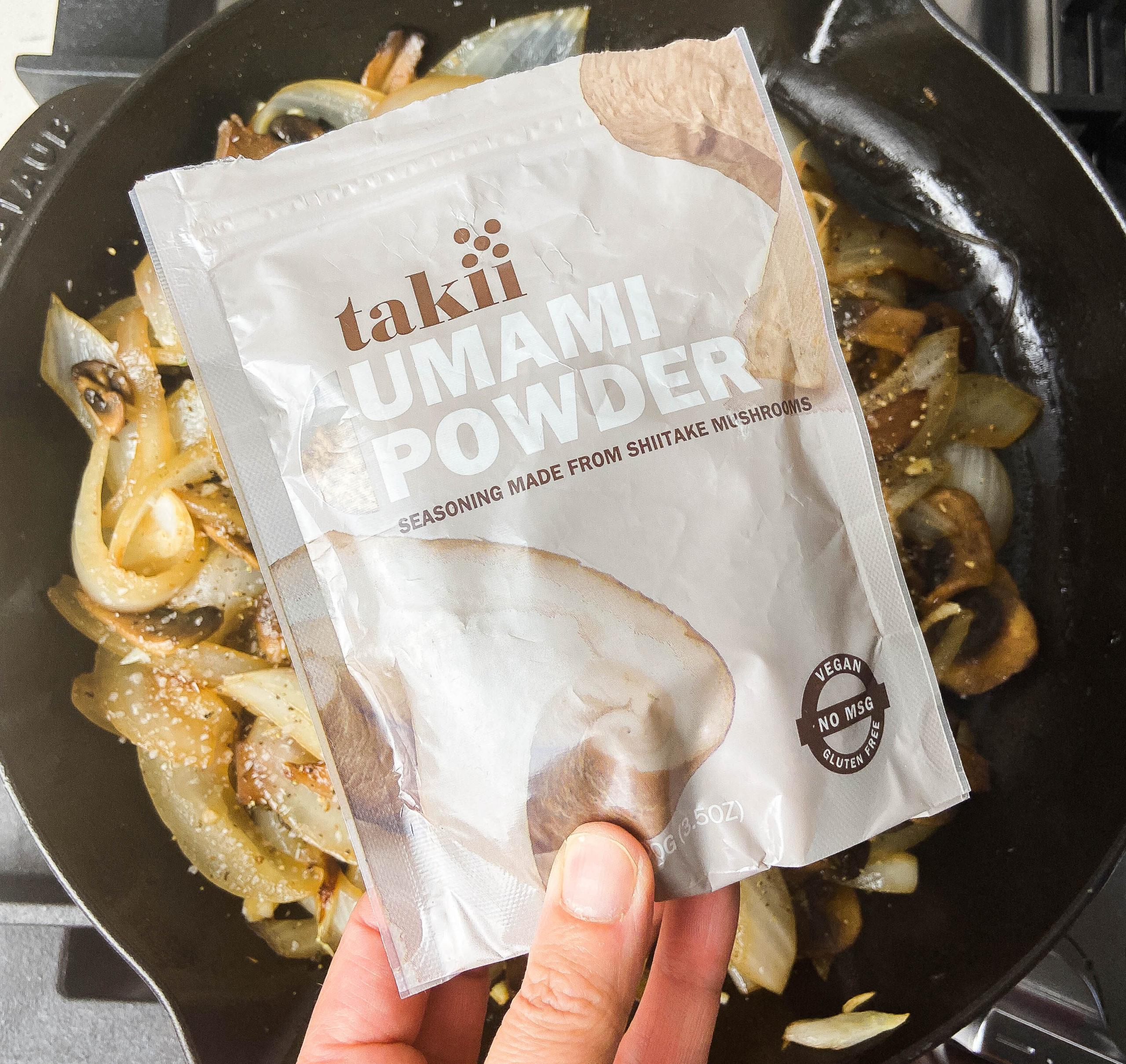Umami mushroom powder package