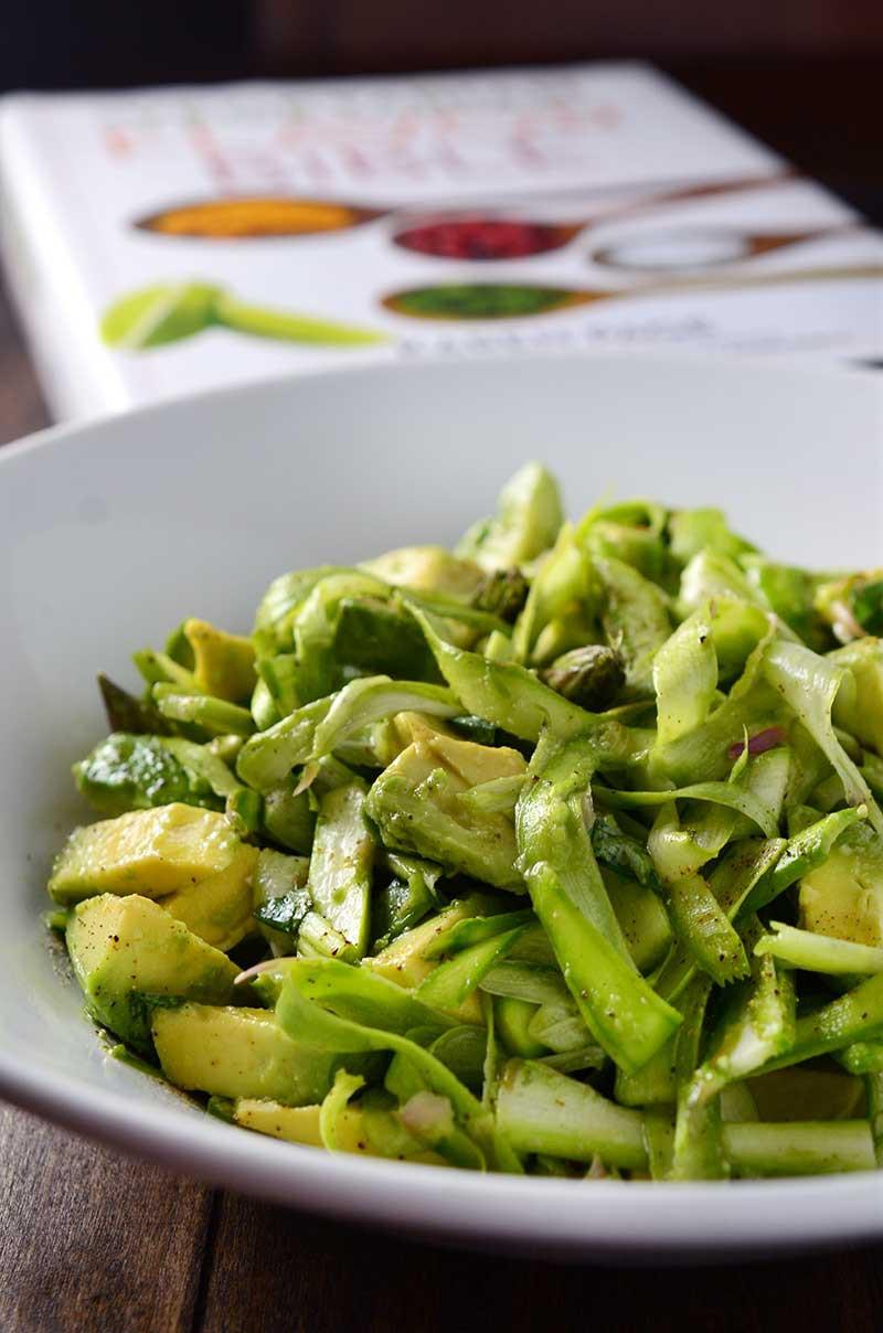 Shaved Asparagus & Avocado Salad + Cookbook Giveaway!