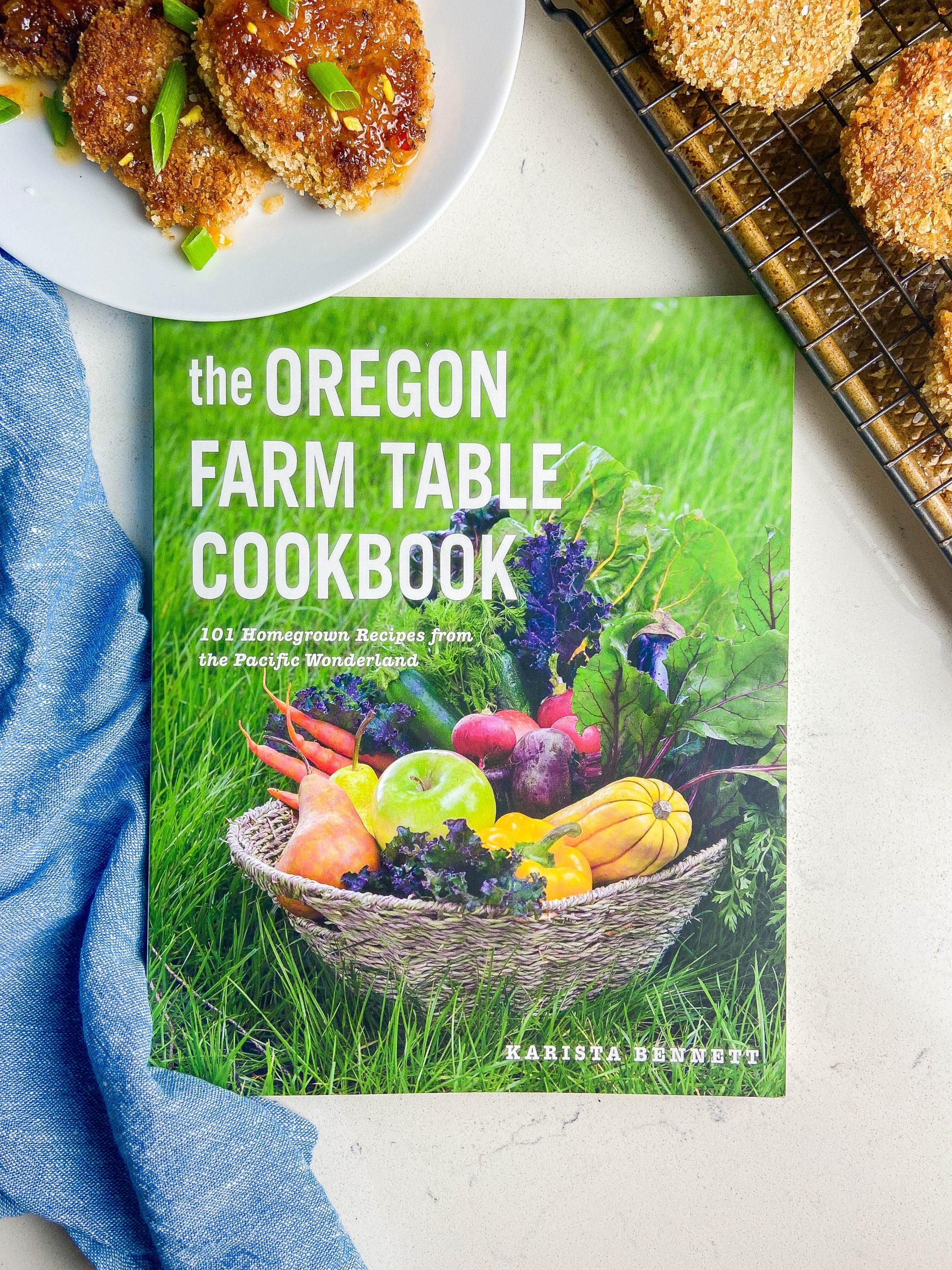 Overhead photo of Oregon Farm Table Cookbook