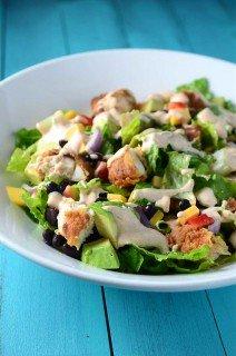 Southwest Crispy Chicken Chopped Salad