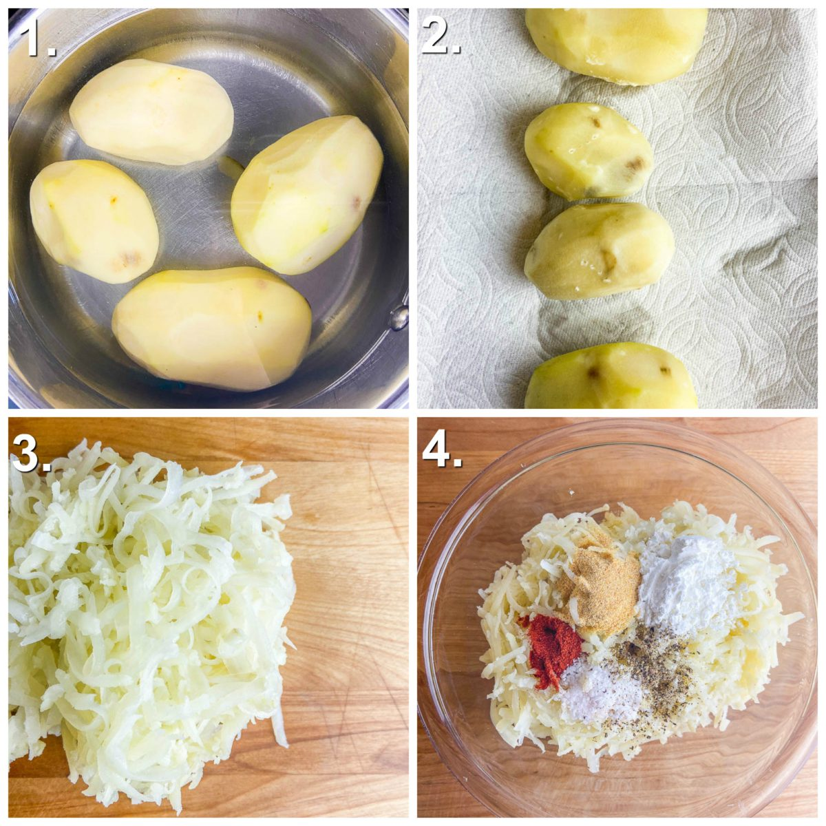 Step by Step Photos for tater tot recipe.