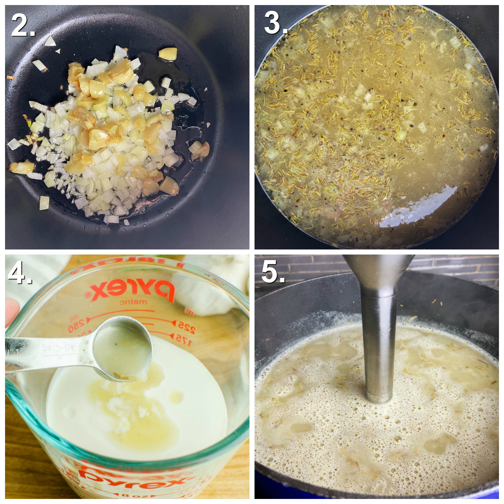Step by Step Photos for out to make roasted garlic soup.