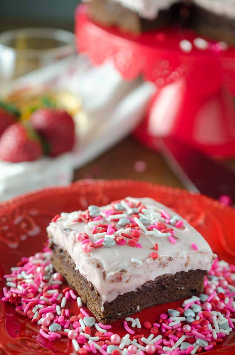 Strawberry Amaretto Brownies