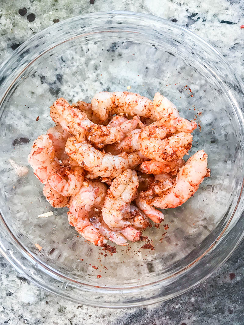 Seasoned Shrimp for Taco Shrimp Dip