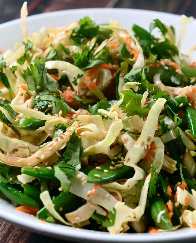 Asian Cabbage Salad with Ponzu Dressing