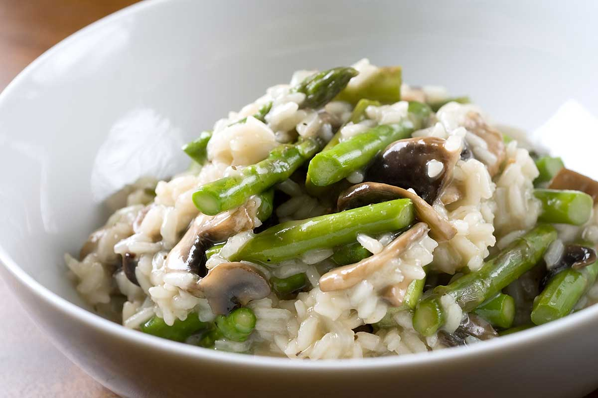Asparagus and Mushroom Risotto