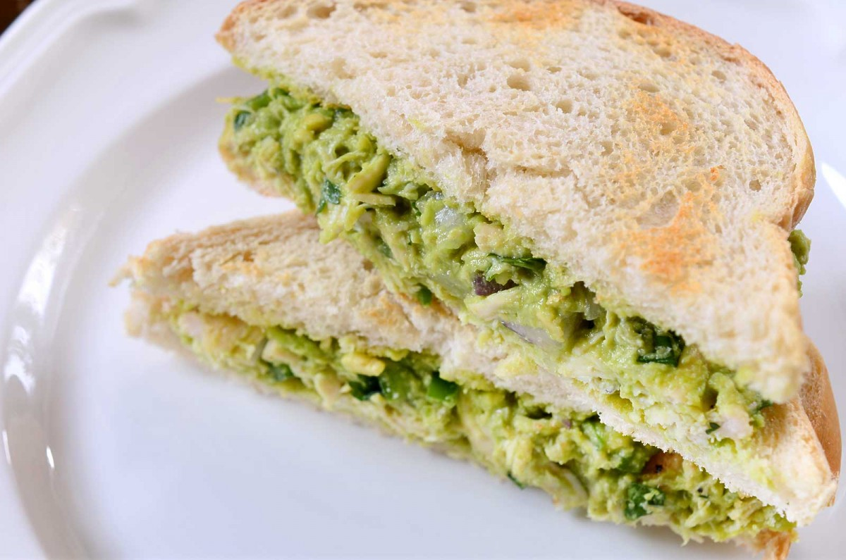 Recipe for Avocado Chicken Salad Sandwich - Life's Ambrosia Life's ...