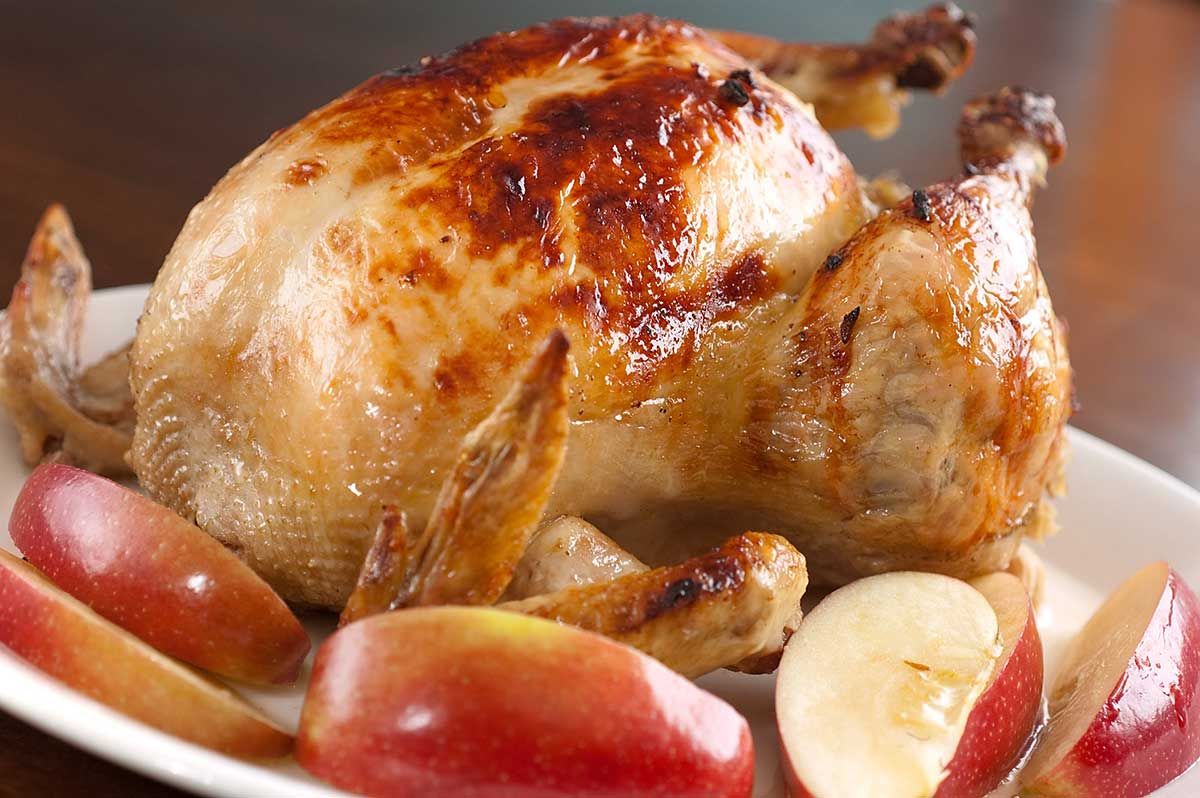 Bacon and Apple Roasted Chicken