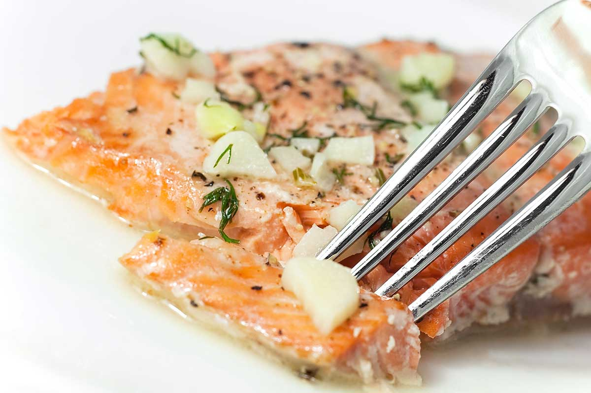 Baked Salmon with White Wine Dill Sauce - Life's Ambrosia