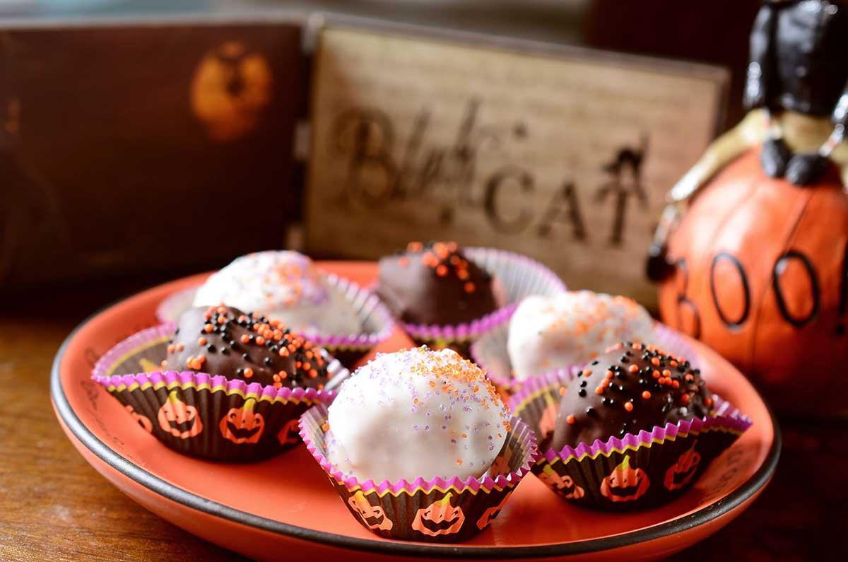Chocolate Peanut Butter Caramel Balls - an easy no-bake candy recipe