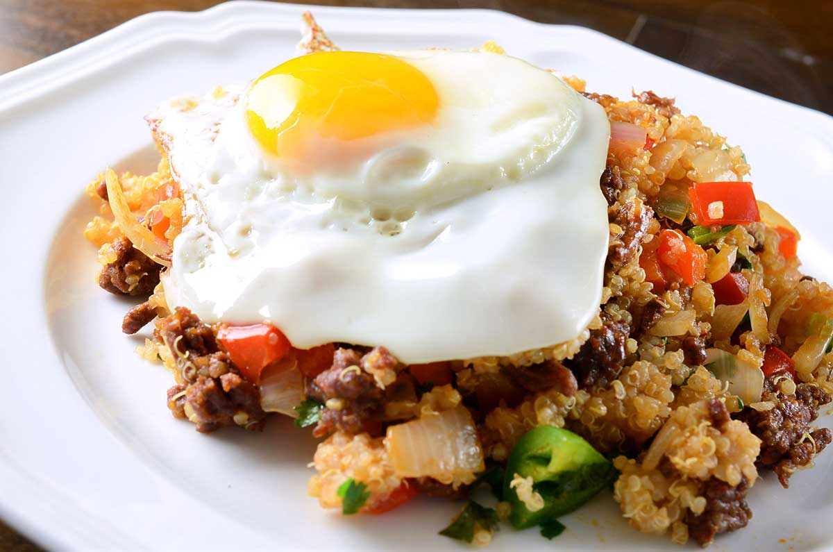 Chorizo Fried Quinoa