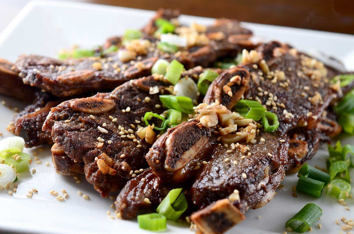 Ginger Garlic Flanken Ribs